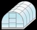 Теплица из поликарбоната Кронос Премиум, размер 3*4*2,1м